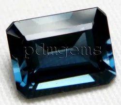London Blue Topaz Faceted Octagon Gemstone
