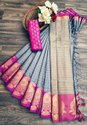 Soft Cotton Silk Saree With Border Blouse