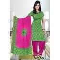 Green Bandhej Suit