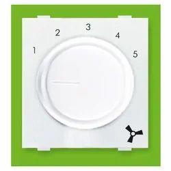 Plastic White 5 Step 450 Fan Regulator, for Ceiling Fan, Number Of Modules: 2 Module