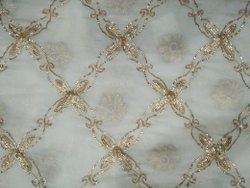 Zari Embroidered Net Fabric