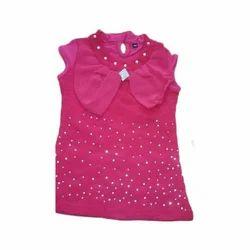 Pink Cotton Fancy Kids Top