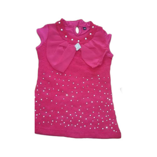 650f8adce486a Pink Cotton Fancy Kids Top