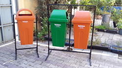 Double Pole Mounted Dustbin