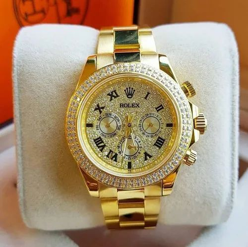 Golden Rolex Watches For Man Formal And Party Watches