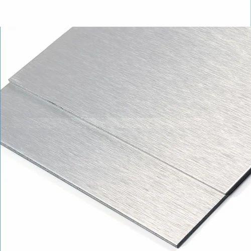 FLEXIBOND Brush Silver Mirror Faced Aluminum Composite Panel