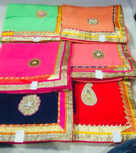 40339f3bbc Gota Patti Saree - Pure Chiffon Gota Leaf Saree Wholesaler from Bikaner