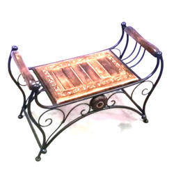Planet Expo Brown and Black Wrought Iron Lounger