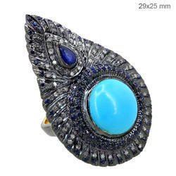 Designer Diamond Silver Ring