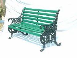 Accented Metal Garden Patio Bench