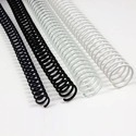 Black & White Plastic Binding Spiral Ring