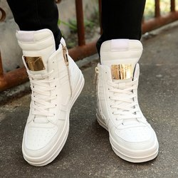 Mens White High Cut Shoes, Packaging Type: Box, Size: 6-10