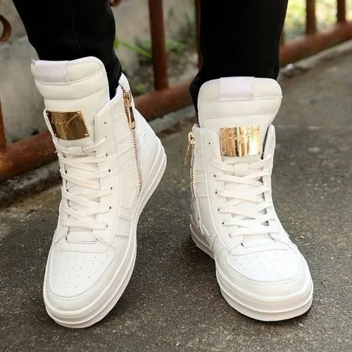 Mens White High Cut Shoes, Packaging