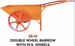 Double Wheel Barrow With M.S Wheel