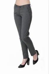 Women\'s Charcoal Grey Formal Pant