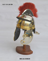 Mki Silver Metal Antique Medieval Armor Roman Helmet Model, Size: Small, For Decoration