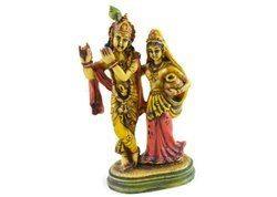 Handmade Handpainted Lord Krishna & Radha Resin Figurine Sculpture