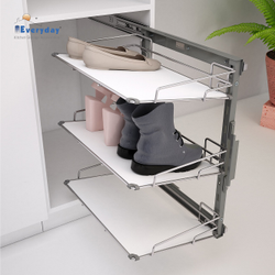 Upto 10 Pairs Frame Shoe Rack Pull Out Solid Base 450