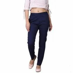 Cotton Black Women's and Girl's Pant