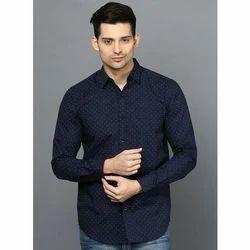 Mens Cotton Printed Shirt, Size: S-XL