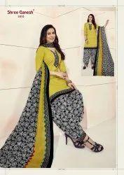 Female Pranjul Shree Ganesh Cotton Suit Material