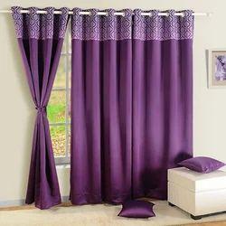 Blackout Curtains Printed Purple, Size: 48