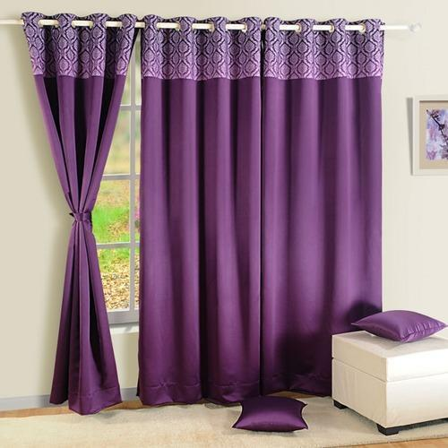 Blackout Curtains Printed Purple