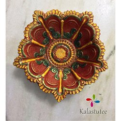 Decorative Terracotta Diya