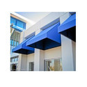 Fixed Blue Awning