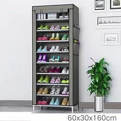 Plastic Collapsible 9 layer Shoe Rack