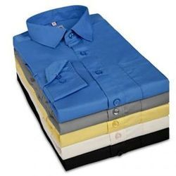 Mens Cotton Full Sleeves Formal Plain Shirt, Size: 38-44