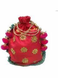 Gotta Patti Flower  Potli Bag