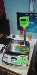 Stainless Steel Zorba SS Electric Table Top Weighing Scale
