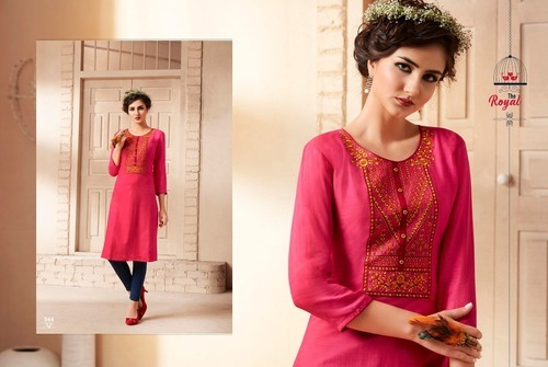 0b1b2de19a Kajree Regular Lily Vol 9 Rayon Embroidery Kurtis Top Catalog, Rs ...