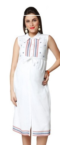 18358225b407 Large Nine Maternity Dress In White, Rs 999 /piece, Nine Maternity ...