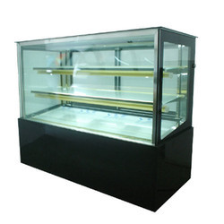 Electric Glass And Steel Cooling Counter