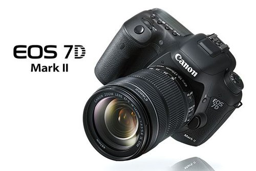 Black Canon EOS 7D Mark II (Body Only), Canon 7D Mark II