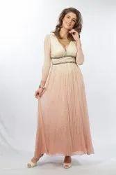 Silk Chiffon Dress with Lining