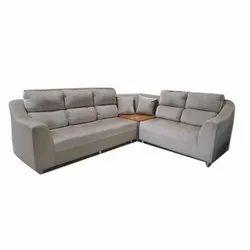 Modern L Shape Plain Sofa Set