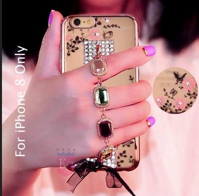 watch 526fa c3007 Auora Bracelet Shinning Designer Stylish Girls Case Soft Transparent Back  Cover For Iphone 8
