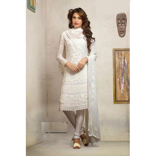 764dcb0ff8d Casual Wear White Ladies Salwar Suit