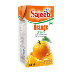 Sajeeb 125ml Orange Juice, Packaging Type: Tetra Pak
