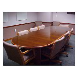 Wooden Conference Hall Table