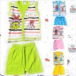 Multicolor Printed Sleeveless T-Shirt & Shorts, Size: Regular fit, Packaging Type: Standard Packing