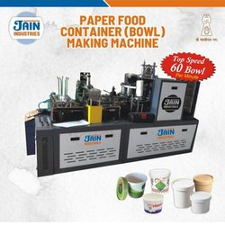 Jain Industries Three Phase Paper Cup Food Container Making Machine