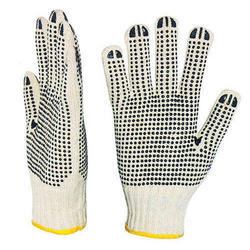 PVC Dotted Knitted Gloves
