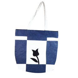 Blue, Black Printed Blue Denim Bag DB10003, For Casual