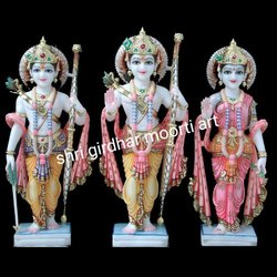 Shri Rama Sita Darbar Marble Statue