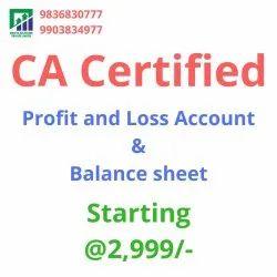 CA Certified PL & Balance Sheet