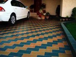 Cement car Parking Tiles